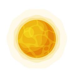Bright sun solar system element flat style vector