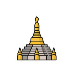 Buddhism religious symbol stupa shrine isolated vector