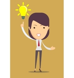 Business woman showing she has an idea vector image