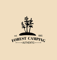 camp logo tourist sign with hand drawn vector image