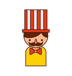 carnival worker avatar character vector image
