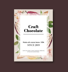 Chocolate poster design with chip drink vector
