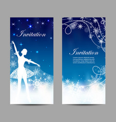 Christmas and new year invitations with tender vector