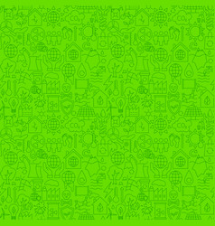 climate change line seamless pattern vector image