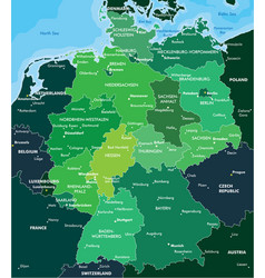 Color map of germany vector