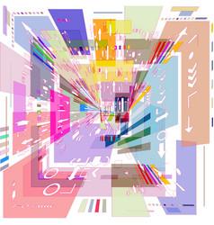 Colored square vector