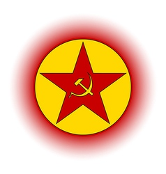 Communism star button vector image