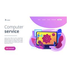 Computer service concept landing page vector
