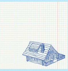 Cottage Handmade vector image
