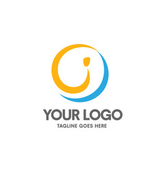 Creative letter i logo vector