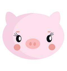 cute pig hand drawn design on white background vector image