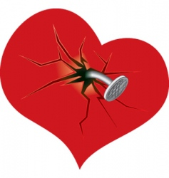 Damaged heart vector