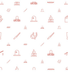 danger icons pattern seamless white background vector image