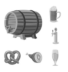 design of pub and bar sign set of pub and vector image