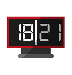 Digital alarm clock icon image vector