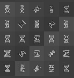 Dna helix or spiral concept icons vector