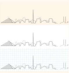 Dublin hand drawn skyline vector