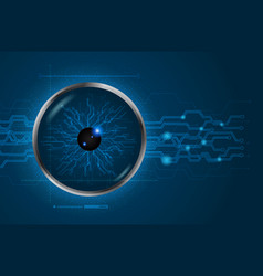 Eye scan concept of digital and technological vector