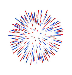 Firework isolated beautiful salute on white vector