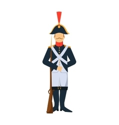 French troop old style armed forces man vector