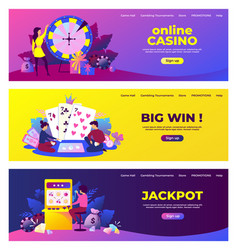 gambling banners lottery and bingo playing vector image
