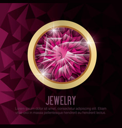 Gems jewelry gold isolated vector