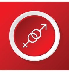 Gender symbols icon on red vector