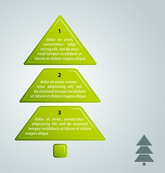 green christmas tree infographic style vector image