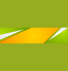 green orange paper corporate abstract banner vector image