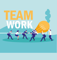 group of business people avatar character vector image