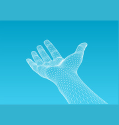 hand offering vector image