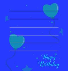 happy birthday style party invitation vector image