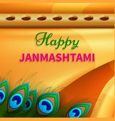 holiday symbols krishna janmashtami vector image