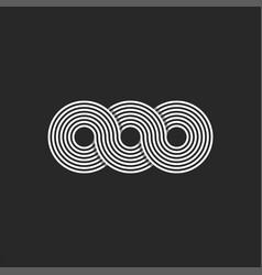 infinity logo minimalist style infinite circles vector image