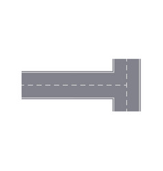 intersection road isolated street map segment vector image