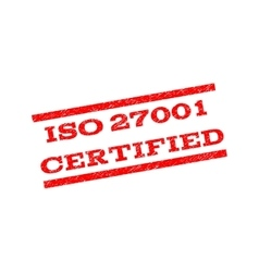 ISO 27001 Certified Watermark Stamp vector image