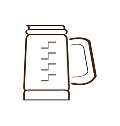 isolated abstract coffeepot icon vector image