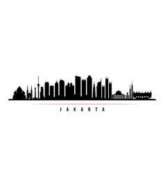 jakarta city skyline horizontal banner vector image