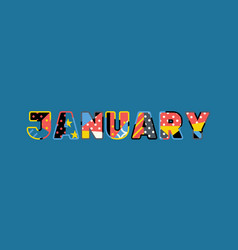 january concept word art vector image