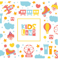 kids land banner template baclub vector image