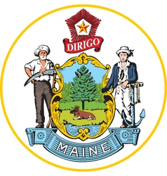 Maine Seal vector image