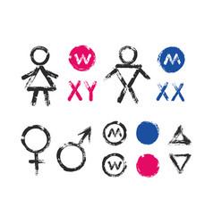 male female symbols wc toilet icons vector image