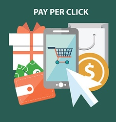 Marketing concept Pay per click vector image