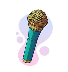 Modern microphone for voice music sound speak vector