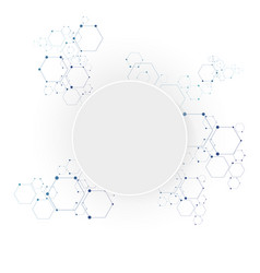 molecular connection structure vector image