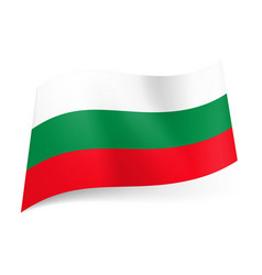 National flag of bulgaria white green and red vector