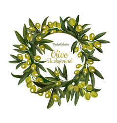 Olives bunch poster background vector