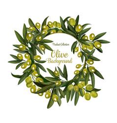 olives bunch poster background vector image