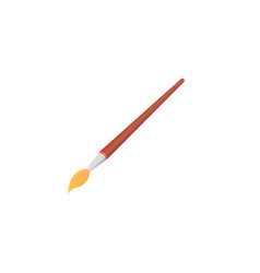 paint brush isolated on white background school vector image