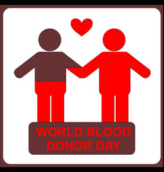 people donor and recipient world blood donor vector image